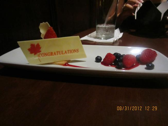 This was my dessert the second time we went to Le Cellier. I got the fruit tart both times.