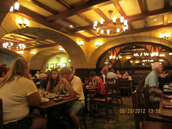 The inside looks just like a wine cellar. It's dark but definitely not as dark as San Angel Inn. Really lovely.