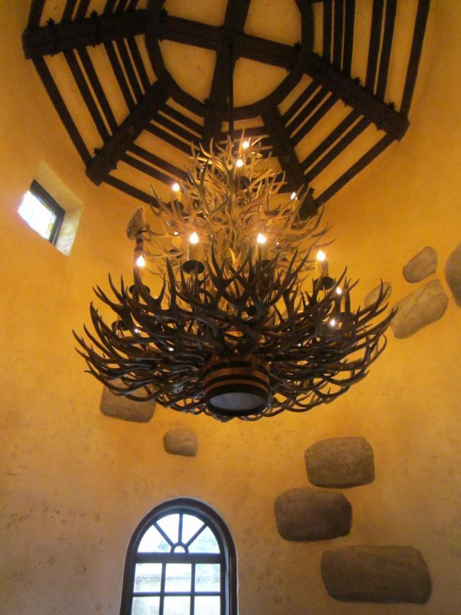 A wonderful antler chandelier.
