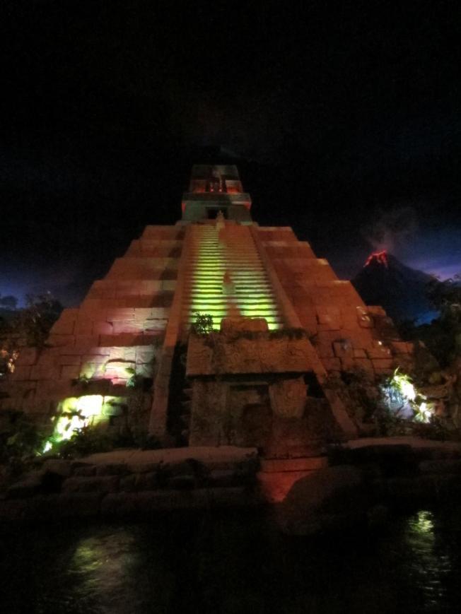 The Mayan pyramid/volcano.