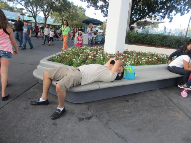 And just to prove it's not only children that lay down at Disney...