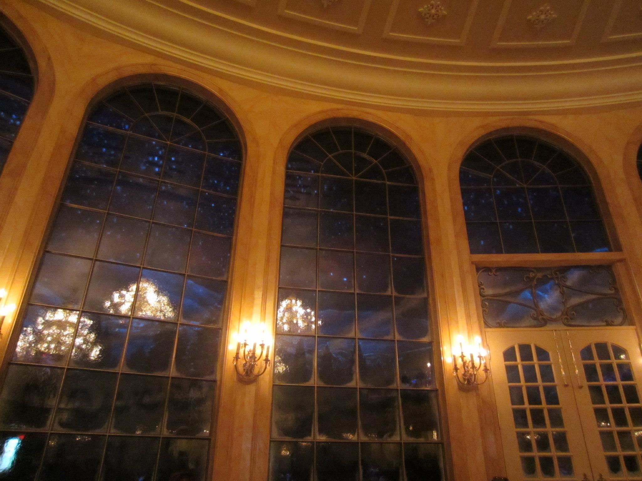 It Snows Outside The Giant Windows At End Of Ballroom Which Is Very Magical
