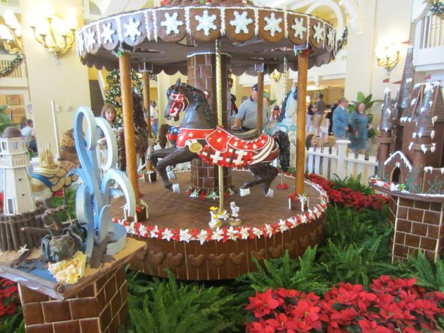Fully operational, gingerbread carousel. Crazy.
