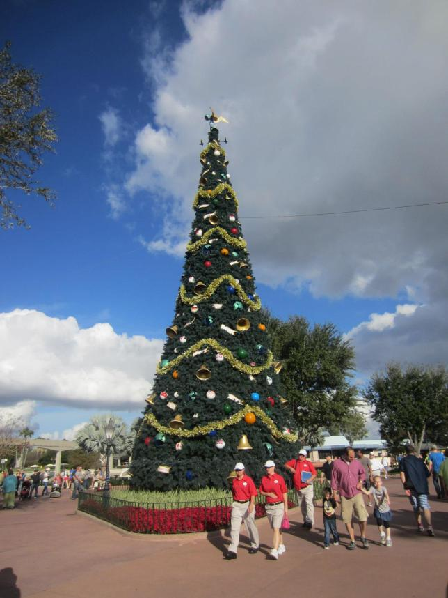 Big Christmas tree between Future World and World Showcase.
