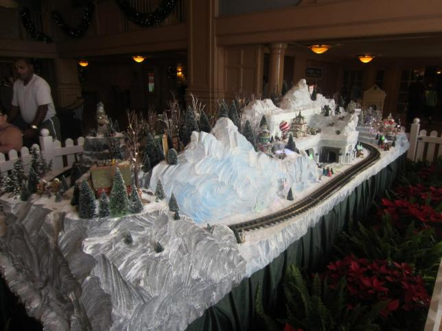Winter train set.