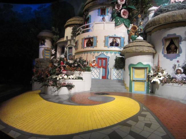 Follow the yellow-brick road.