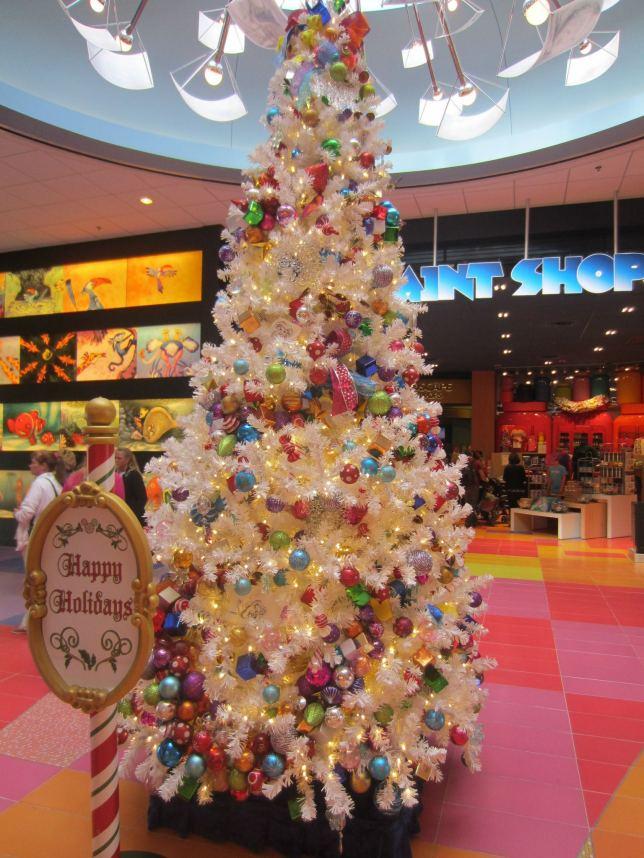 Christmas tree in the atrium.