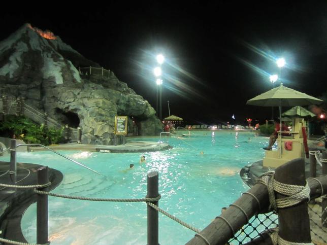 The volcano pool.
