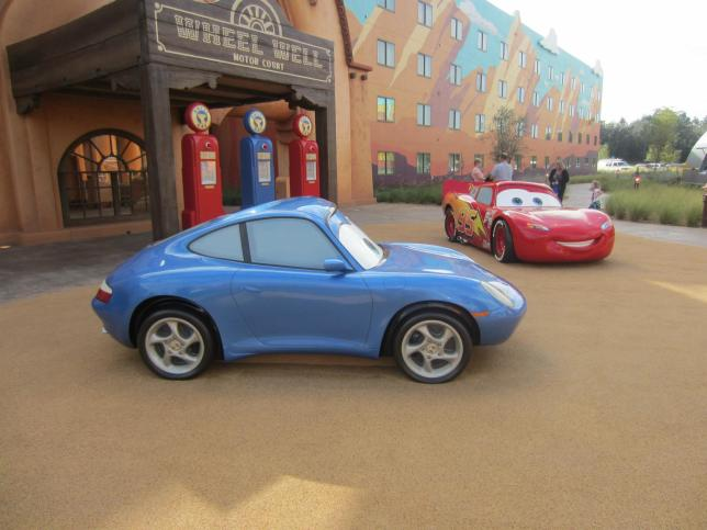 Why wait in line at Hollywood Studios to see inanimate cars when you can see them anytime at Art of Animation?