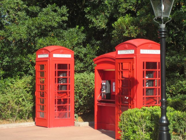 I had enough time in the United Kingdom to take this picture of the phone booths. They actually work. They also remind me of the TARDIS a little.